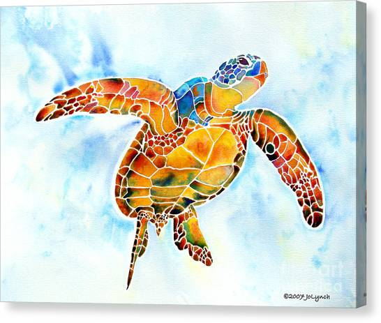 Turtles Canvas Print - Sea Turtle Gentle Giant by Jo Lynch