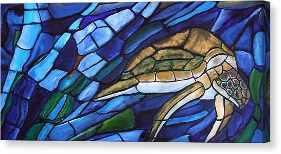 Sea Turtle I Canvas Print by David McGhee