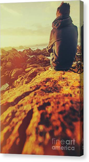 Young Adults Canvas Print - Sea Vacation Wonders by Jorgo Photography - Wall Art Gallery