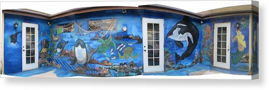 Sea Wall Canvas Print by Mikki Alhart