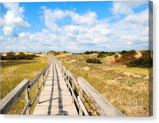 Seabound Boardwalk Canvas Print