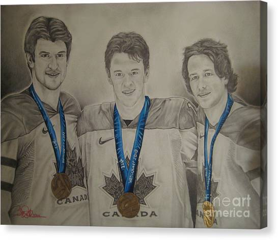 Seabrook Toews Keith Gold Medal Canvas Print by Brian Schuster