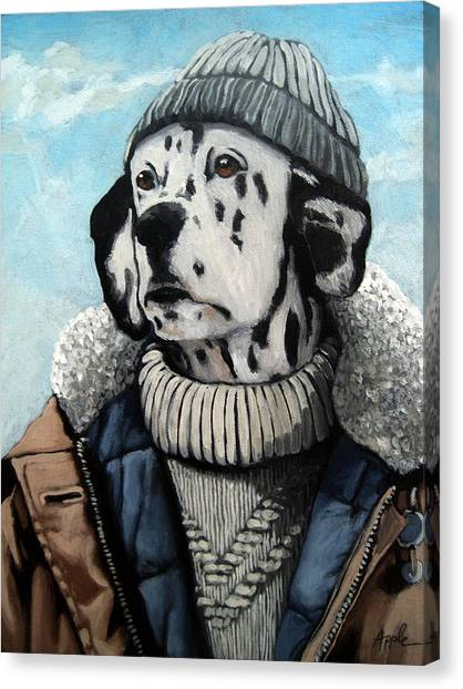 Seadog - Dalmation Animal Art Canvas Print