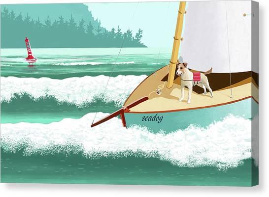 Seadog Canvas Print