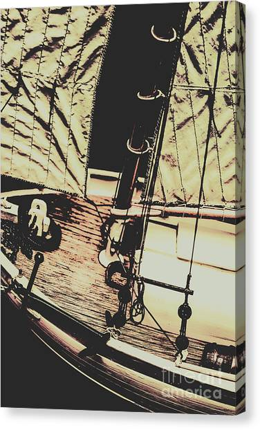Cruise Ships Canvas Print - Seafaring Sails by Jorgo Photography - Wall Art Gallery