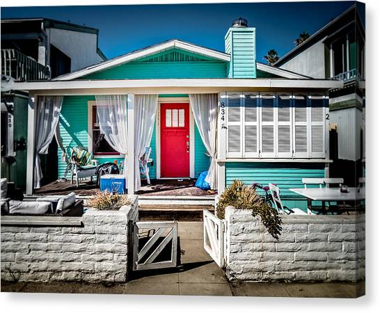 Canvas Print featuring the photograph Seafoam Shanty by T Brian Jones