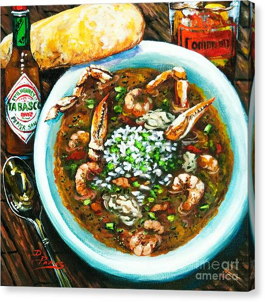 Crabs Canvas Print - Seafood Gumbo by Dianne Parks