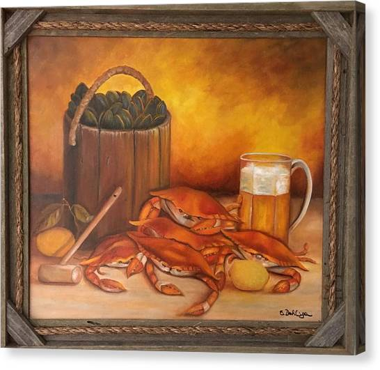 Seafood Night Canvas Print