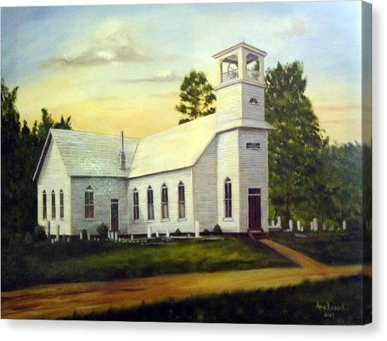 Canvas Print - Seaford Zion Methodist Church by Anne Kushnick