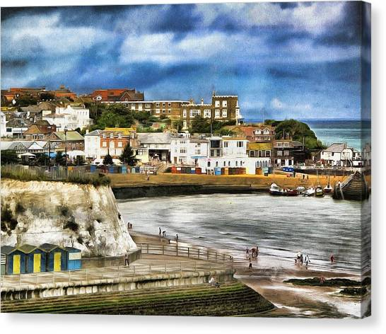 Seafront Broadstairs Kent Canvas Print