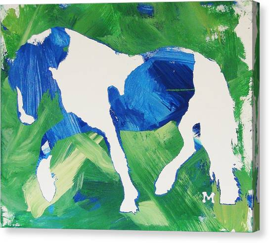 Seahawks Horse Canvas Print