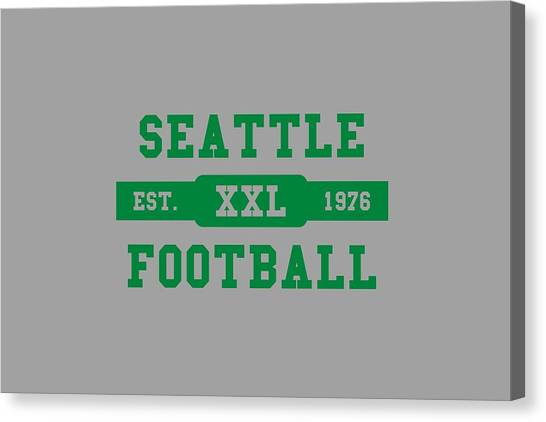 Seattle Seahawks Canvas Print - Seahawks Retro Shirt by Joe Hamilton