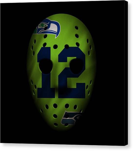 Seattle Seahawks Canvas Print - Seahawks War Mask by Joe Hamilton