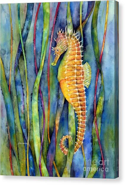 Seagrass Canvas Print - Seahorse by Hailey E Herrera