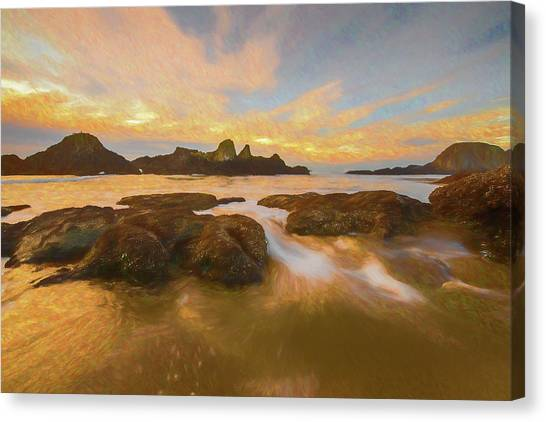 Seal Rock Sunset Canvas Print