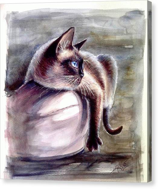 Siamese Cat 2 Canvas Print