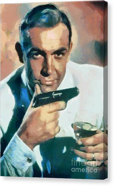 Sean Connery Collection - 1 Canvas Print