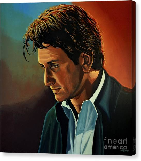 Milk Canvas Print - Sean Penn by Paul Meijering