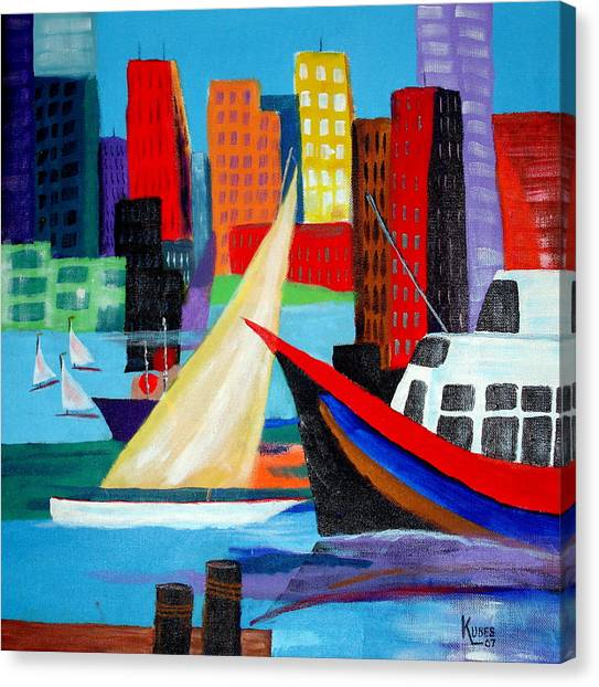 Seaport Canvas Print by Susan Kubes
