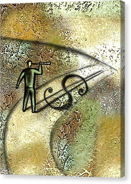 One Direction Canvas Print - Searching For Potential Profit by Leon Zernitsky