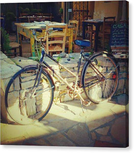 Restaurants Canvas Print - Sears Bicycle. Old School Way To Get by Shari Warren