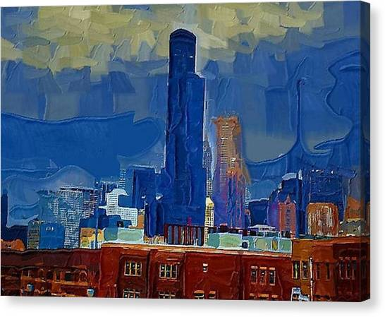 Sears Tower Canvas Print by Brad Hutchings