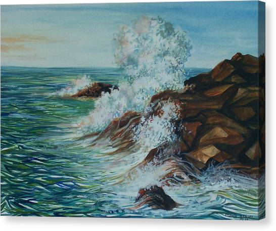 Seascape 1 Canvas Print by Arnold Hurley
