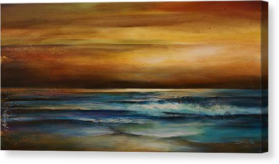 Ocean Sunsets Canvas Print - Seascape 1 by Michael Lang