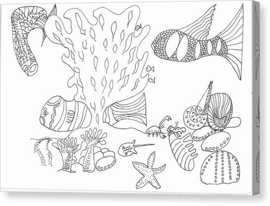 Seascape And Corals Canvas Print