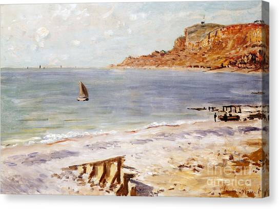 Water Canvas Print - Seascape At Sainte Adresse  by Claude Monet