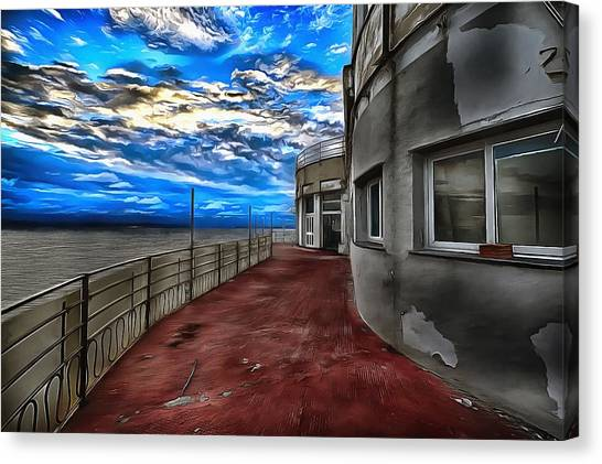 Seascape Atmosphere - Atmosfera Di Mare Dig Paint Version Canvas Print