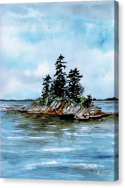 Seascape Casco Bay Maine Canvas Print