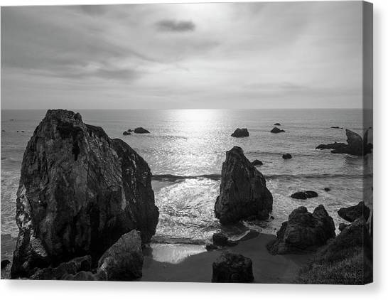 Seascape Jenner California IIi Bw Canvas Print