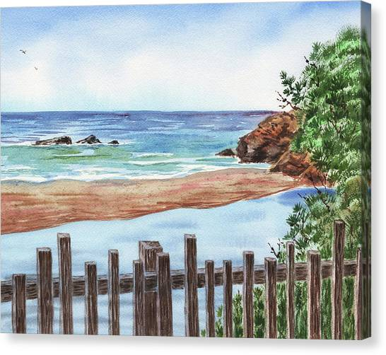 Low Tide Canvas Print - Seascape Low Tide by Irina Sztukowski