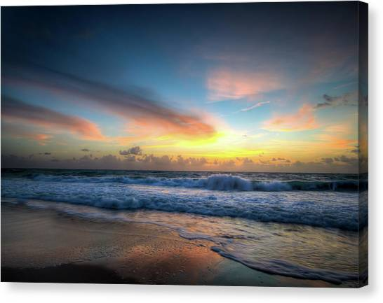 Seascape Sunrise Canvas Print