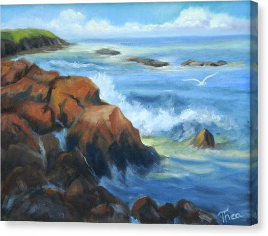 Seascape Canvas Print by Thea Wolff