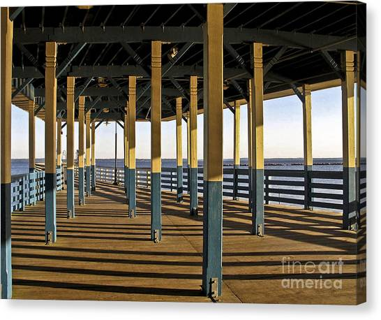 Seascape Walk On The Pier Canvas Print