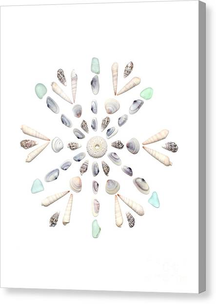 Shell Canvas Print - Seashell Snowflake 2 by Jennifer Booher