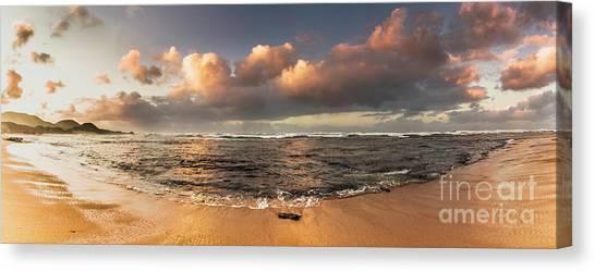 Sandy Beach Canvas Print - Seashore Splendour by Jorgo Photography - Wall Art Gallery