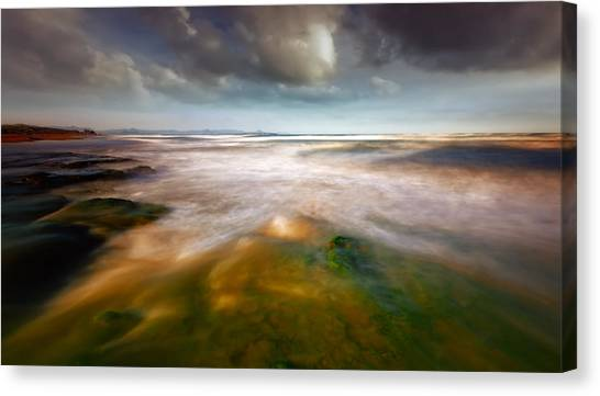 Abstractions Canvas Print - Seaside Abstraction by Piotr Krol (bax)