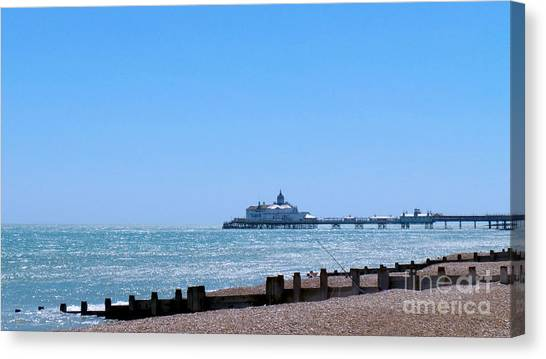 Seaside And Pier Canvas Print
