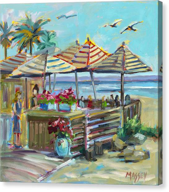 Zelda Canvas Print - Seaside Dining, Plein Air by Marie Massey