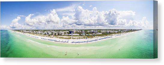 Seaside Florida Gulf Aerial Canvas Print