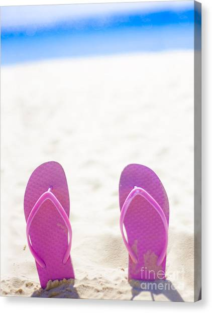 Sandy Desert Canvas Print - Seaside Holiday Concept With Copyspace by Jorgo Photography - Wall Art Gallery