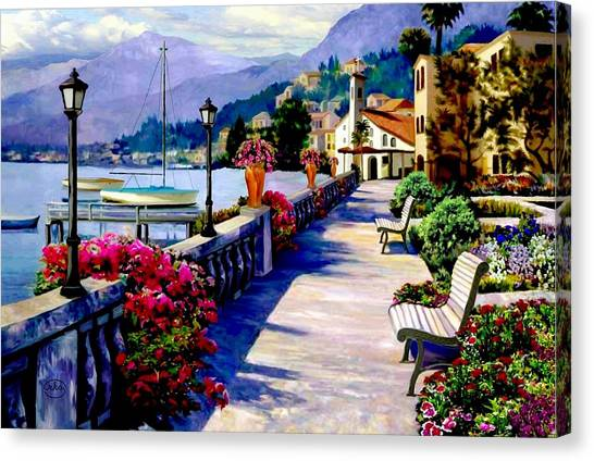 Seaside Pathway Canvas Print