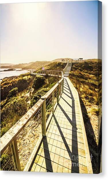 Boardwalk Canvas Print - Seaside Perspective by Jorgo Photography - Wall Art Gallery