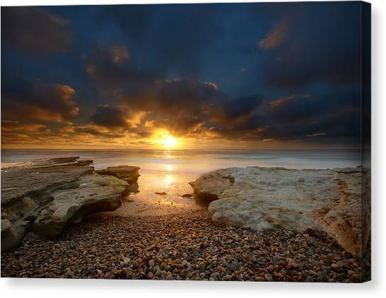 San Diego Canvas Print - Seaside Reef Sunset 9 by Larry Marshall