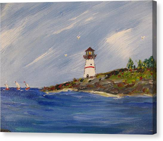 Seaside Sentinel Canvas Print by Dennis Poyant