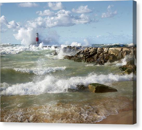Seaside Splash Canvas Print