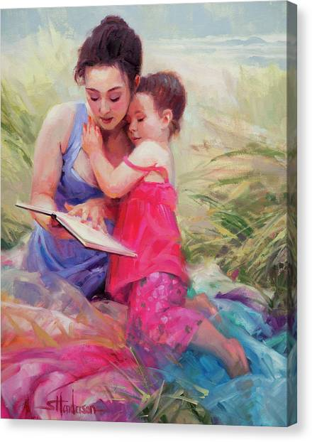 Picnic Canvas Print - Seaside Story by Steve Henderson